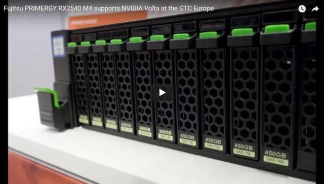 Die PRIMERGY RX2540 M4 unterstützt jetzt duale NVIDIA Volta GPUs für fortgeschrittene AI- und Rechenanwendungen
