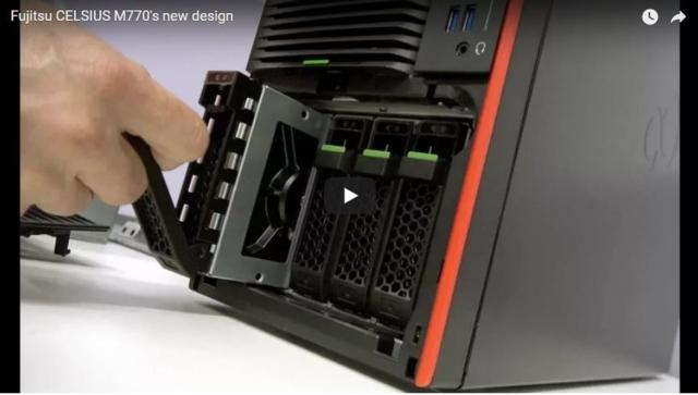 Die CELSIUS M770 wurde umgestaltet und setzt neue Maßstäbe für ordentliches und effizientes Workstation-Design.
